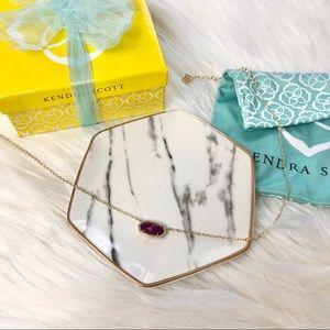 Kendra Scott Elisa Gold Necklace In Purple Jade
